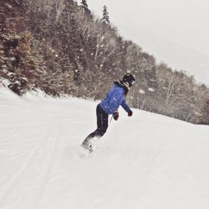 Snowboarding at Whiteface Mountain in Upstate New York