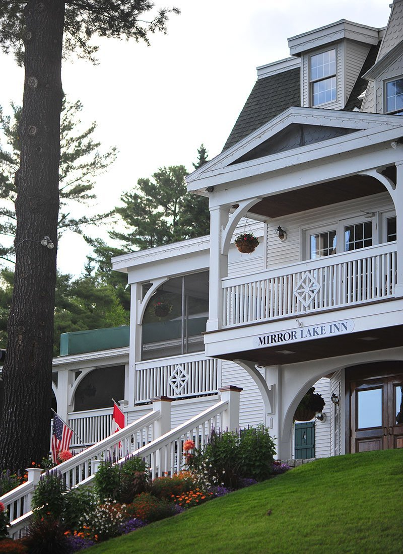 The inn exterior shot