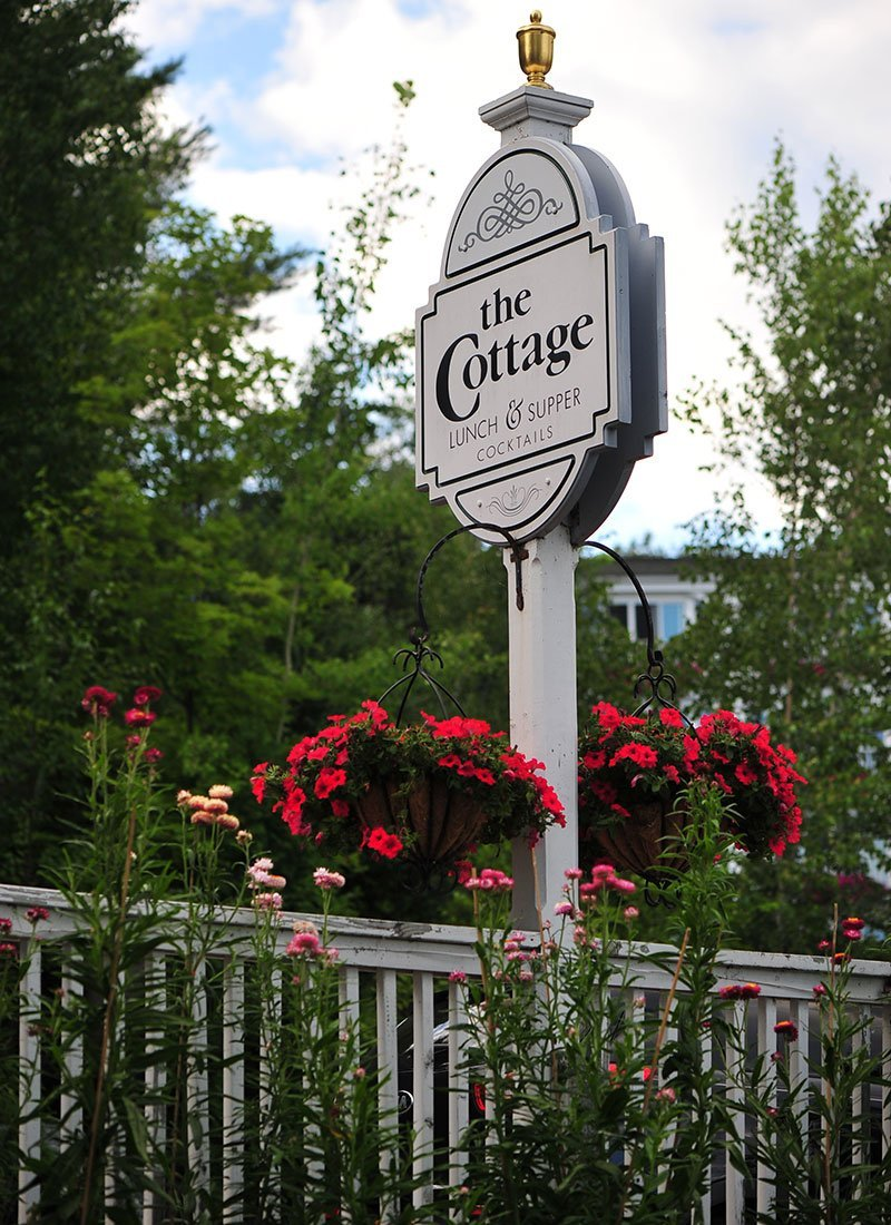 The Cottage exterior signage