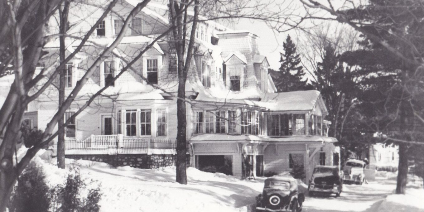 Vintage photo of the Inn's facade