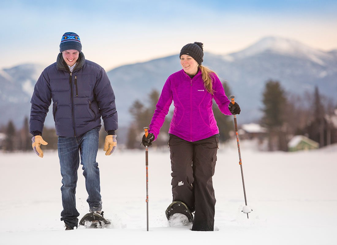 Guest snowshoeing