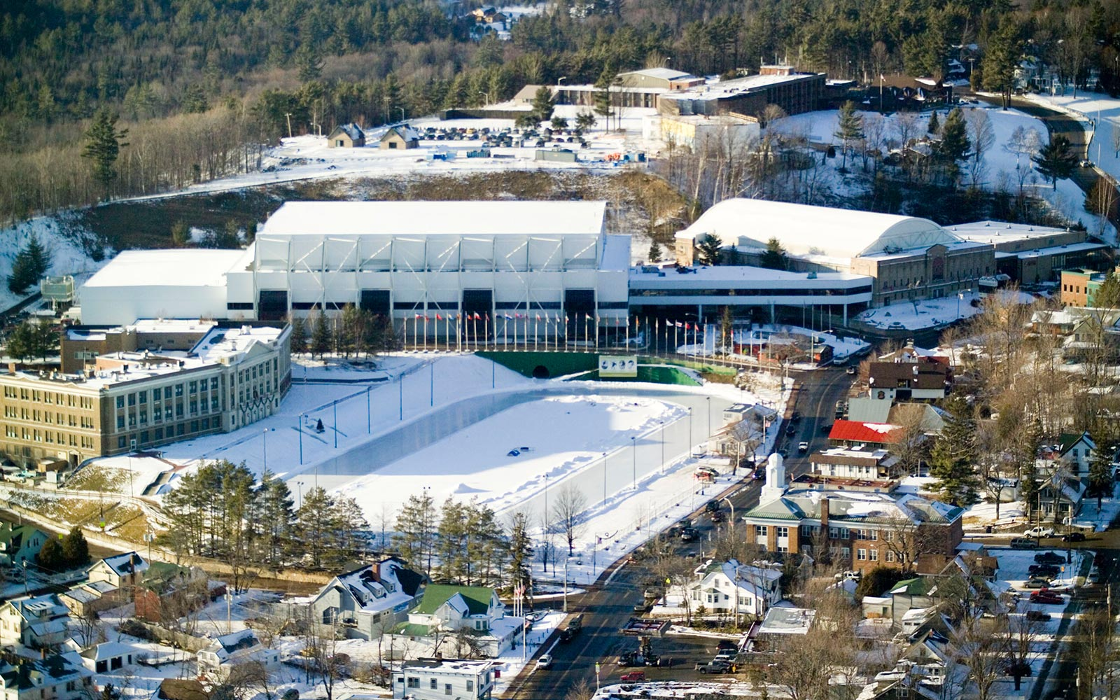 Aerial view of Olympic center