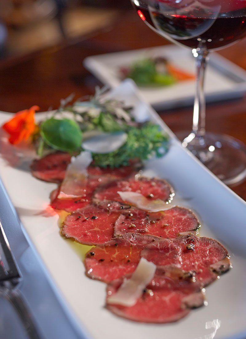 Carpaccio on plate