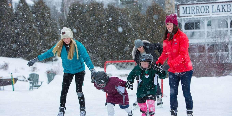 Daytime ice skating