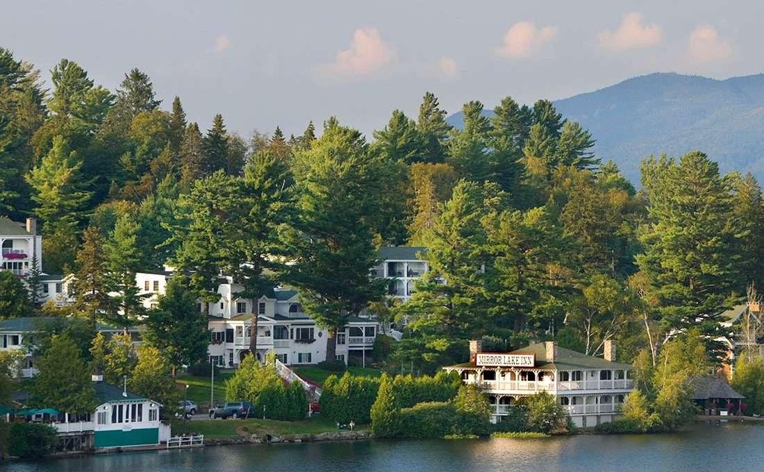 Exterior shot of the lake