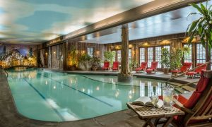 Beautiful and peaceful indoor swimming pool at Mirror Lake Inn Resort & Spa.