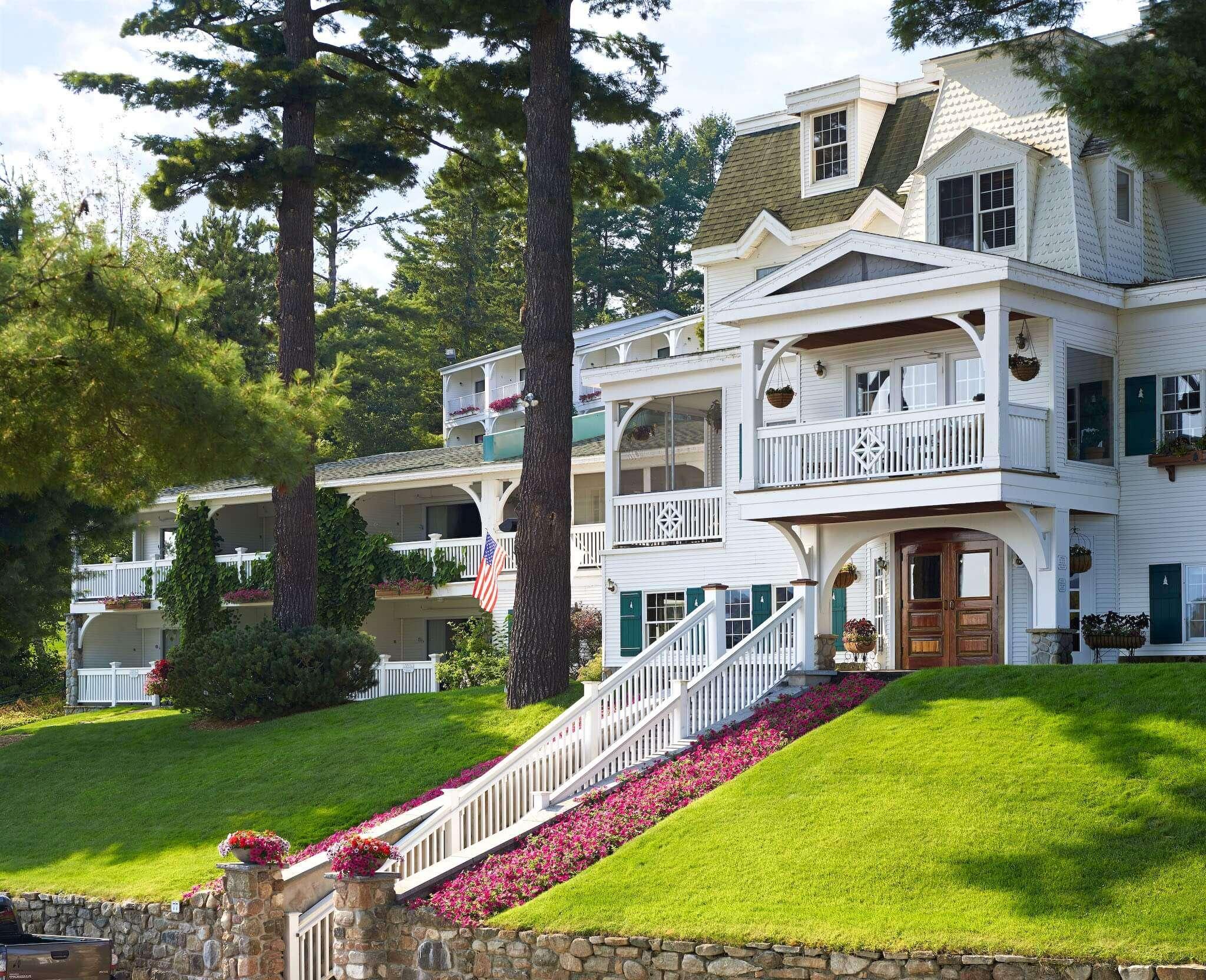 Front of Mirror Lake Inn resort, Lake Placid