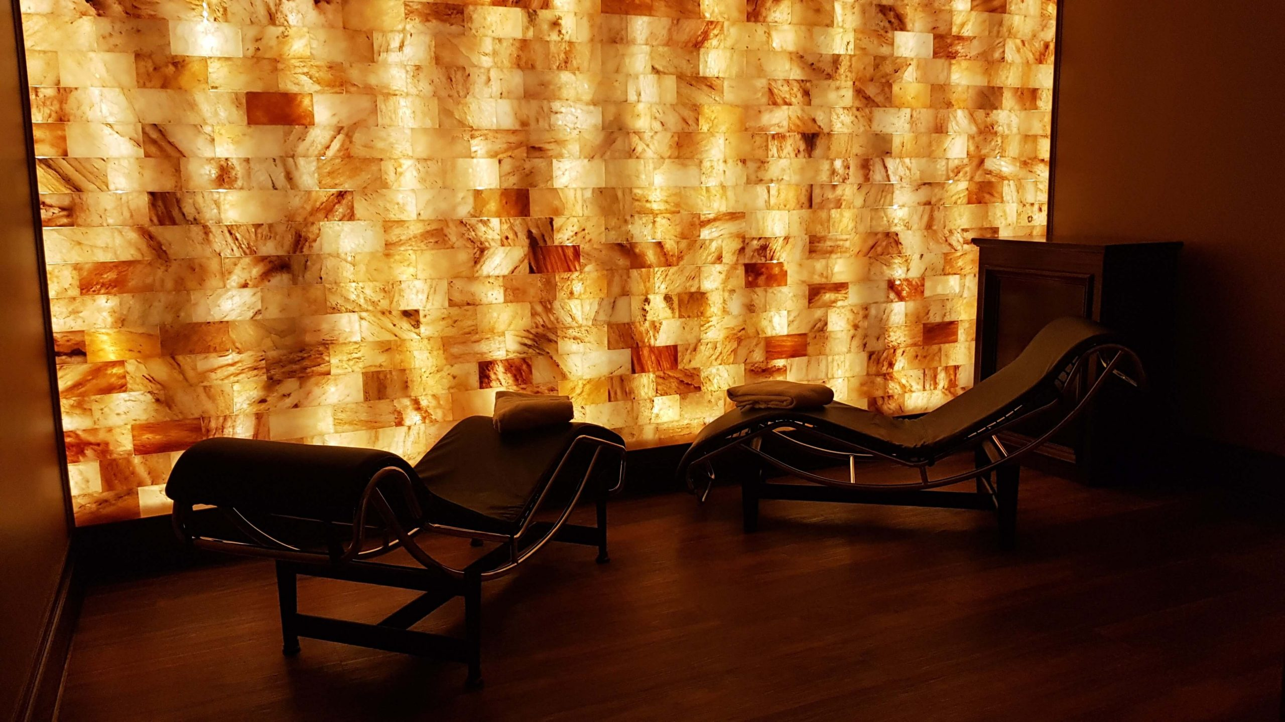 Relaxing salt therapy room at Mirror Lake Inn Resort & Spa