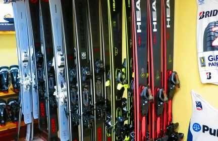 Skis in the Mirror Lake Inn Ski Shop