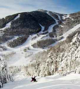Snowboarder at Whiteface Mountain