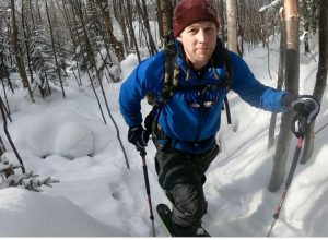 Andrew Weibrecht skis the Adirondack back country