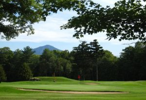 Eighth green at the Whiteface Club Golf Course