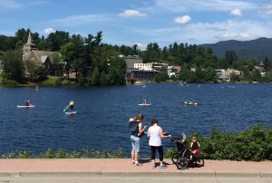 Boaters on Mirror Lake