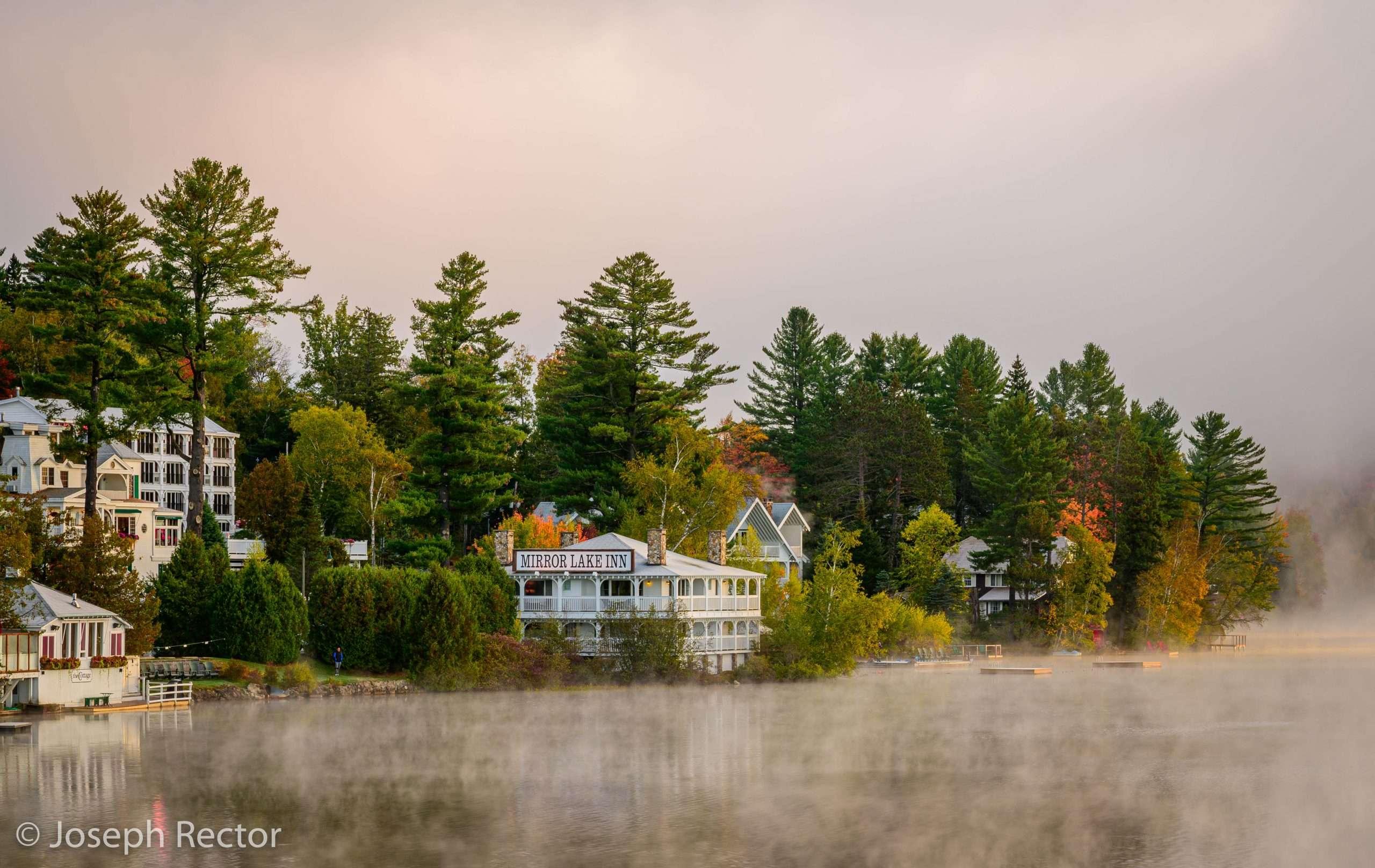 Fog on Mirror Lake